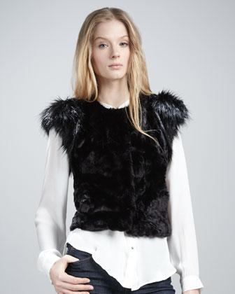 NM + Target Faux-Fur Vest  from neimanmarcus.com