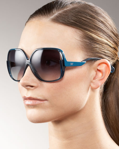 Curved-Arm Sunglasses