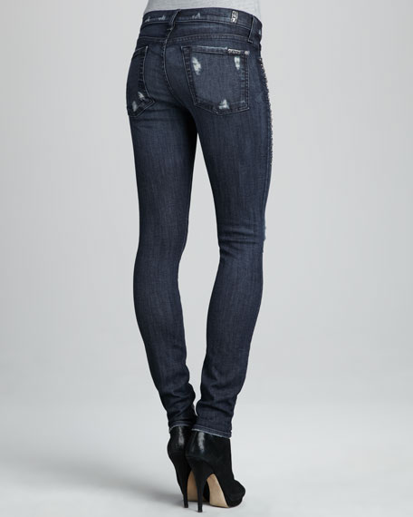 Skinny Gray Tint Destroyed Jeans