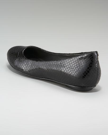Air Dana Snake-Embossed Ballerina Flat