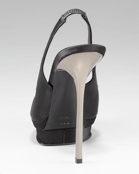 Peep-Toe Slingback Pump