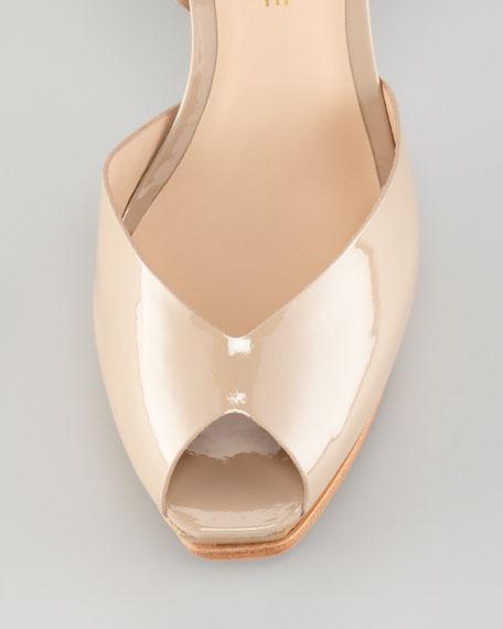 Taryn Patent Ankle-Strap Sandal