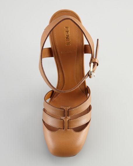 Closed-Toe Ankle-Wrap Sandal