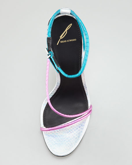 Labrea Hologram Snakeskin Sandal