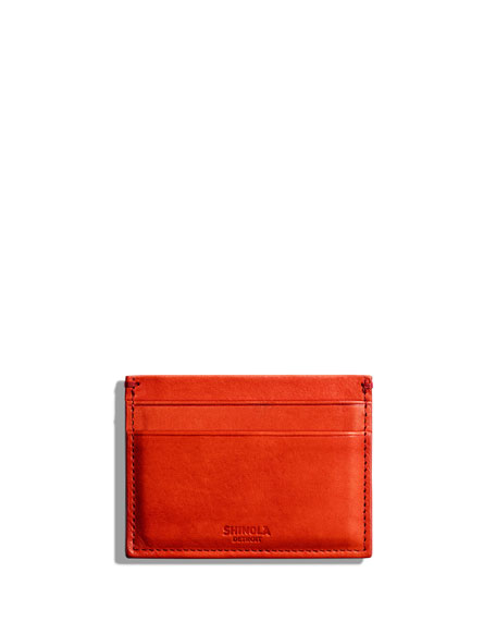 Shinola Cases Men's Five-Pocket Leather Card Case