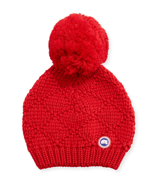 Canada Goose Oversized Wool Pompom Beanie Hat  82b1e7a349dc