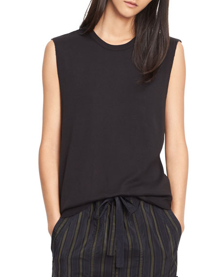 Pima Cotton Shirttail Tank Shell