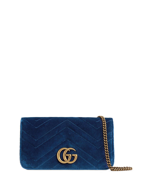 d2a53e7f7a3a Gucci GG Marmont Velvet Crossbody Bag | Neiman Marcus