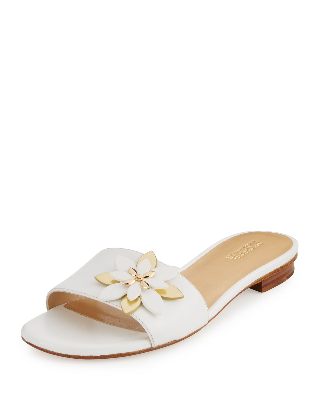 Michael Michael Kors Heidi Floral Flat Slide Sandal