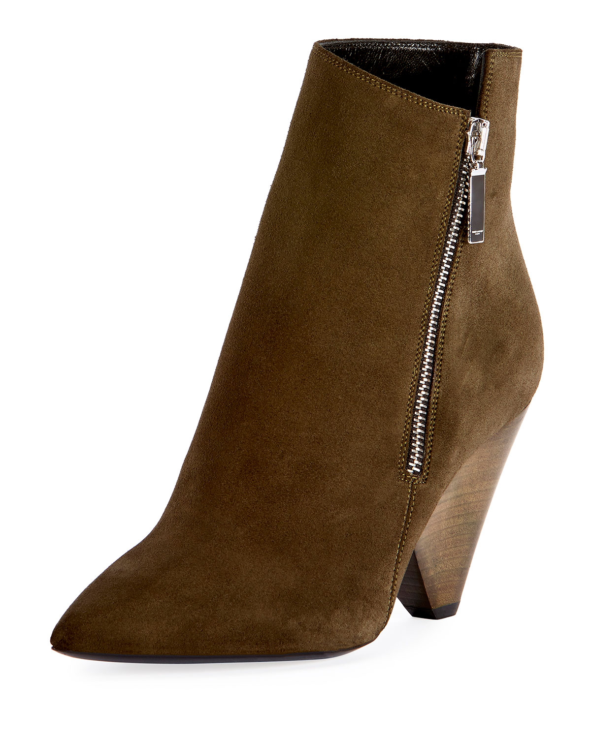 0d7d28f1106e Saint Laurent Niki Asymmetric Suede Ankle Boot