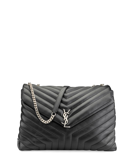 Saint Laurent Loulou Monogram Y Quilted Xl Slouchy Chain