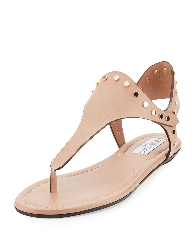 e75b7e2f6a1 Jimmy Choo Dara Studded T-Strap Sandal