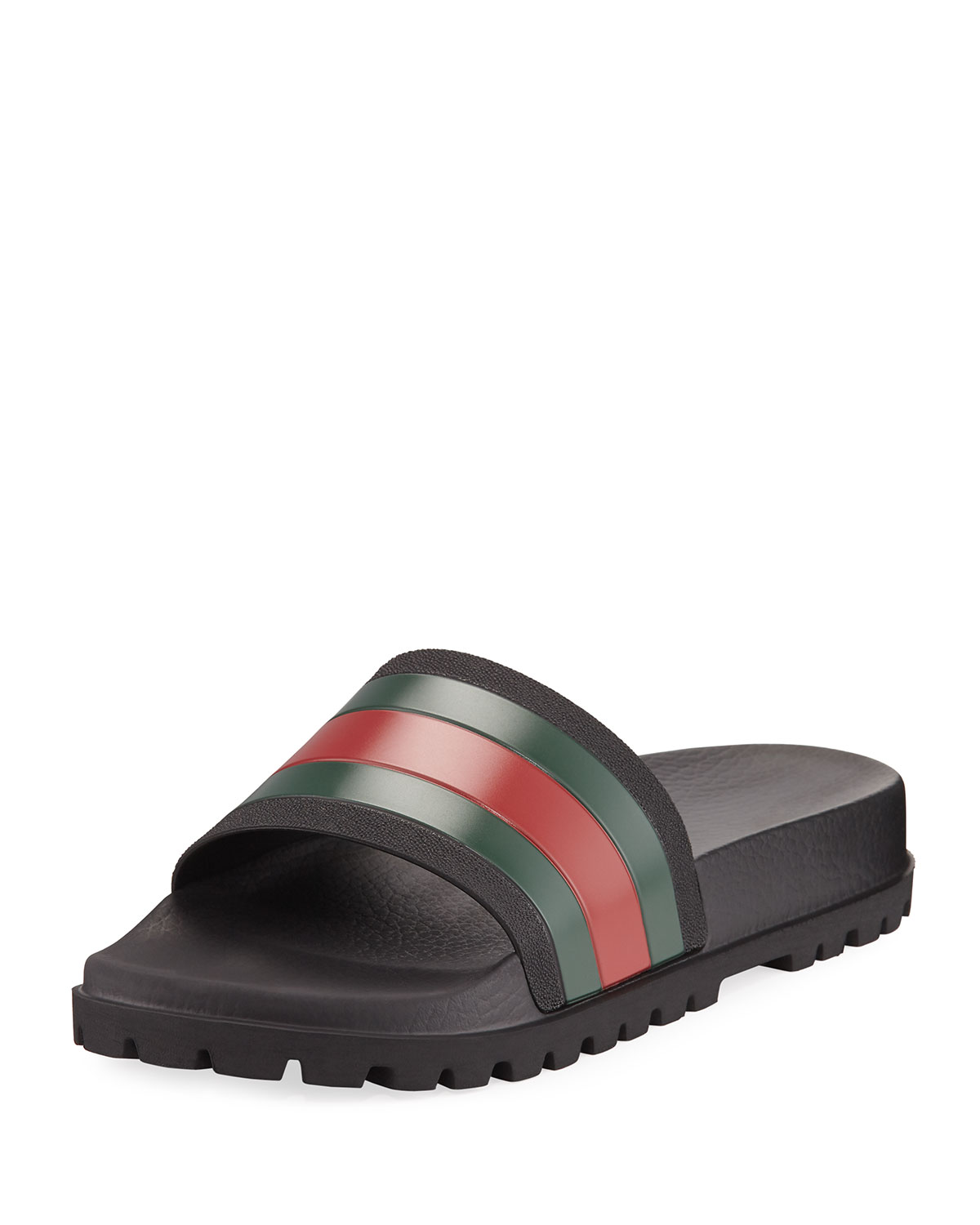 62eaa2ad594f Gucci Pursuit Trek Web Slide Sandal