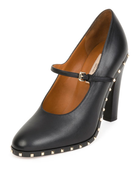 Soul Rockstud Leather Mary Jane Pump