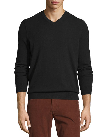 Cashmere Long-Sleeve V-Neck Sweater