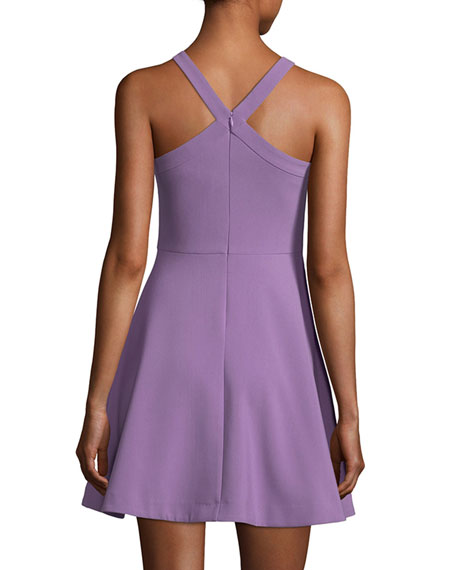 Ashland Halter Sleeveless Fit-and-Flare Short Dress