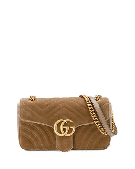 3ecff9b3c211 Gucci GG Marmont Small Quilted Velvet Crossbody Bag | Neiman Marcus