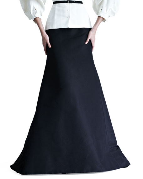 Carolina Herrera Silk Faille Gown Skirt