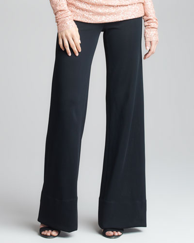 Donna Karan Crepe Double-Jersey Body Pant V
