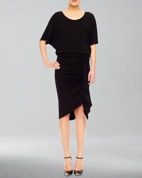 Ruch-Skirt Jersey Dress