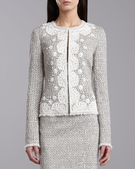 Speckled Tweed Jacket, Porcelain