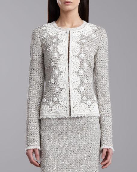 Speckled Tweed Jacket, Porcelain