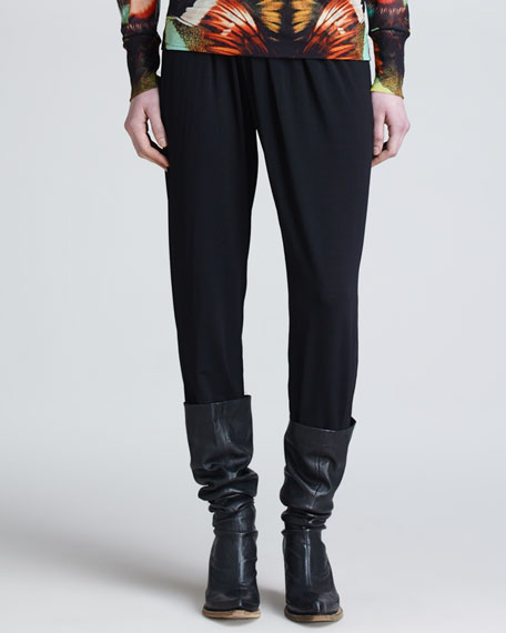 Jean Paul Gaultier Pants with Crossover Knit Waistband,