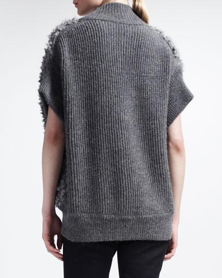 Teddy Furry Button-Front Vest