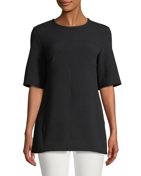 Short-Sleeve Tunic, Black