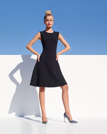 Sophia Seamed Drop Waist Dress