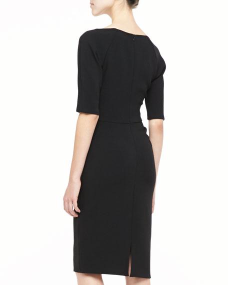Deedie 3/4-Sleeve Side Ruched Dress