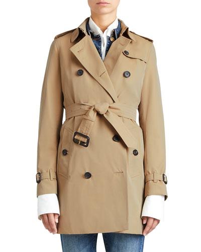 The Kensington - Mid-Length Heritage Trench Coat, Honey