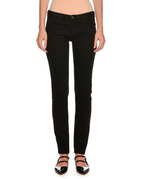 Armani Collezioni Straight-Leg Skinny Ankle Pants, Black