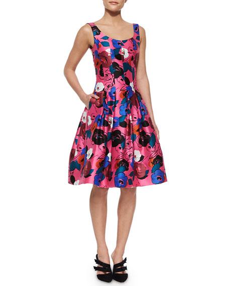 Oscar de la RentaFloral-Print A-Line Dress