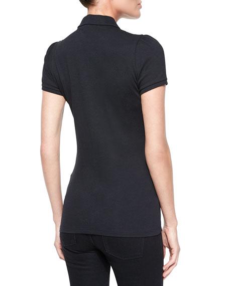 Peter Pan-Collar Polo Shirt