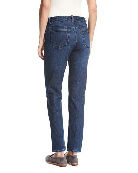 Washed Stretch Denim Jeans