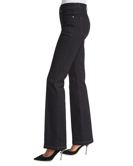 High-Waist Flare-Leg Jeans, Denim