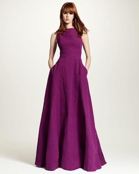 Sleeveless V-Back Gown