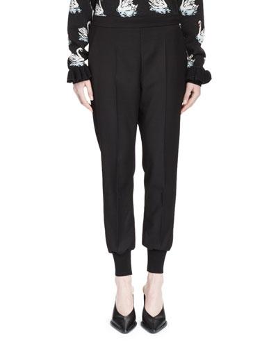 Creased Jodhpur Pants  Black