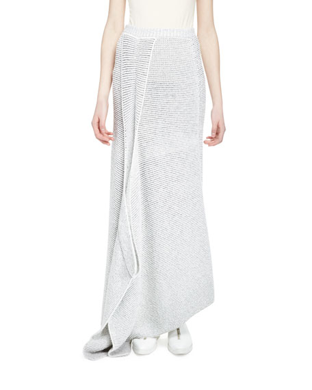 Stella McCartney Fluid Speckle Maxi Skirt, Cream