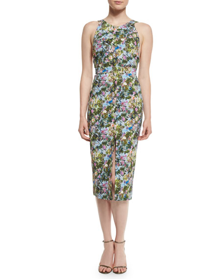 Cushnie Et Ochs Floral Open-Back Sleeveless Dress, Floral
