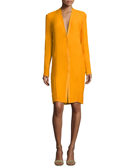 Narciso Rodriguez V-Neck Boyfriend Cardigan Dress