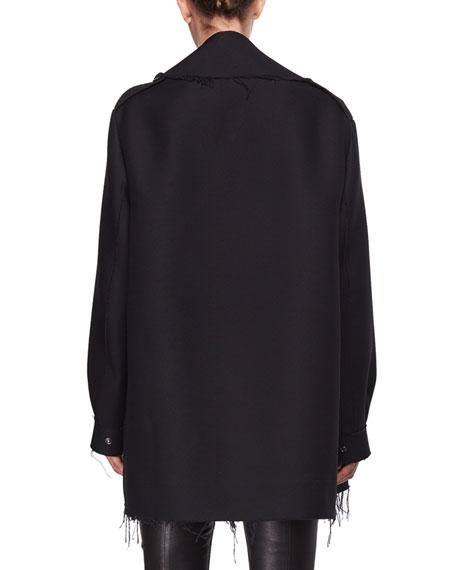 Shamsta Raw-Edge Coat