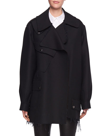 THE ROW Shamsta Raw-Edge Coat