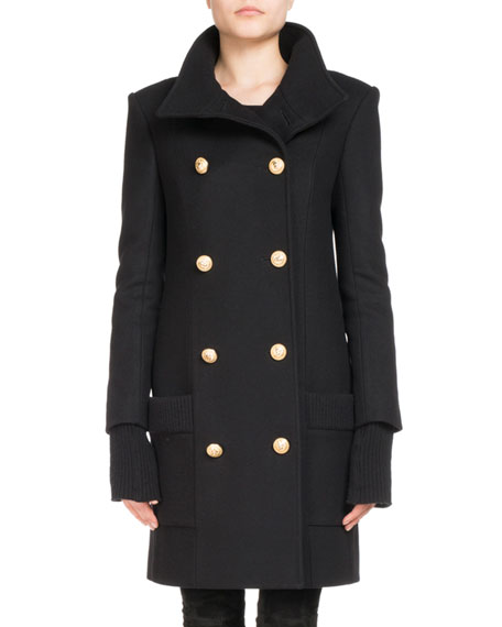 Double-Breasted Mid-Length Coat