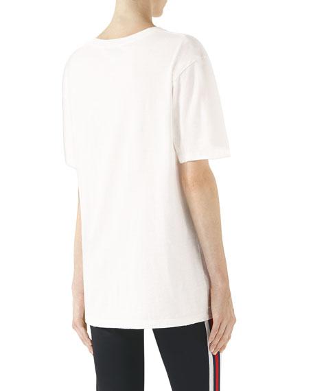 Gucci Glitter Print Cotton T-Shirt