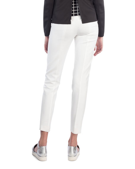 Fabia Straight-Leg Jersey Stretch Ankle Pants