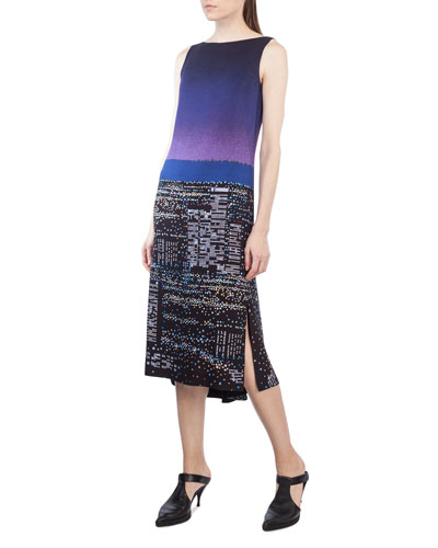 Sleeveless Twilight City Tunic Dress