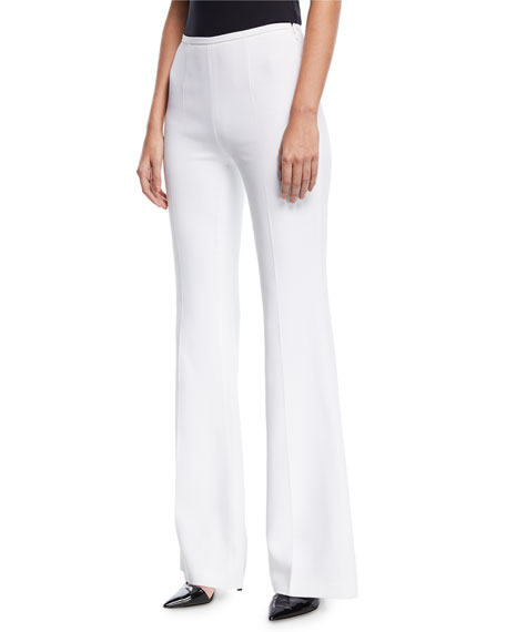 Michael Kors Collection High-Rise Double-Crepe Flared-Leg Pants