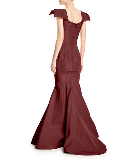 Sweetheart Sleeveless Mermaid Silk-Faille Evening Gown
